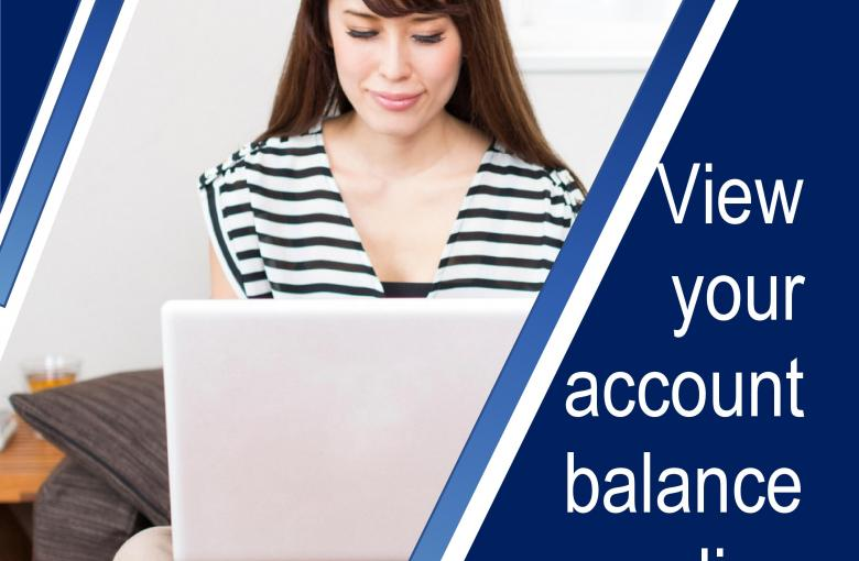 Online account balance